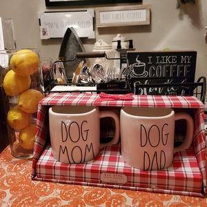 Rae dunn mugs set dog mom and dog dad